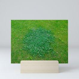 The grass is green Mini Art Print