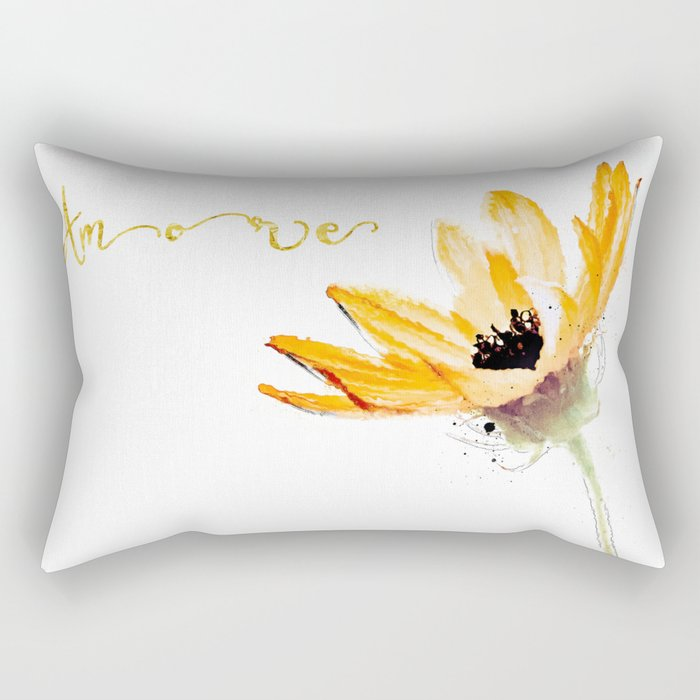 Flower Amore Rectangular Pillow