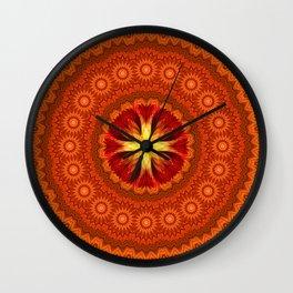 Fire Cross Mandala Wall Clock