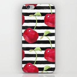 Cherry pattern iPhone Skin