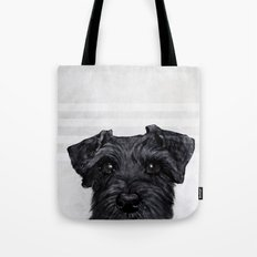 Black Schnauzer original painting print Tote Bag