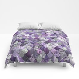 Mermaid Purple and Silver Comforters