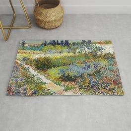 Vincent van Gogh Garden at Arles Rug
