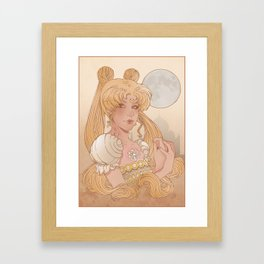 Princess of the moon Framed Art Print