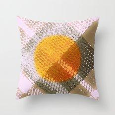 Orange Plaid Throw Pillow
