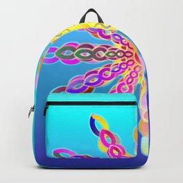 Solar Power Mandala (turquoise-sky blue background) Backpack