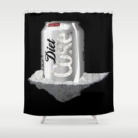 coke Shower Curtains featuring Diet Coke by yayanastasia