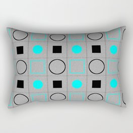 Rounds and Squares (Turquoise 2) Rectangular Pillow