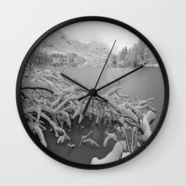 Wintry Lake Bohinj Wall Clock