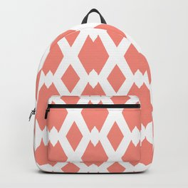 Daffy Lattice Light Coral Backpack