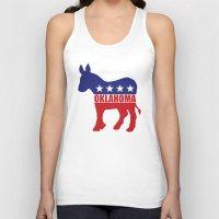 oklahoma Tank Tops featuring Oklahoma Democrat Donkey by Democrat