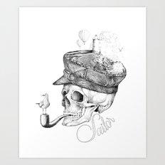 Sailor B&W Art Print