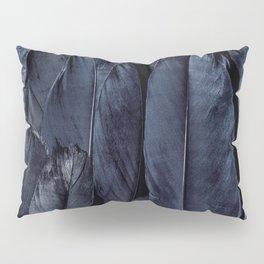 Mystic Black Feather Close Up Pillow Sham