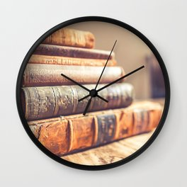 Bookish - Library Bookworm Books Wall Clock