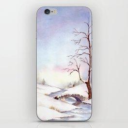 Snowy Bridge iPhone Skin