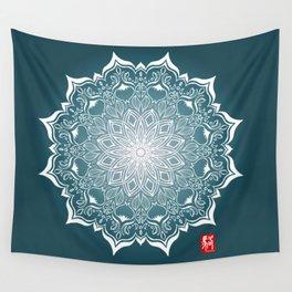 Mandala - Blue Wall Tapestry
