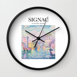 Signac - La Tour Rose, Marseille Wall Clock
