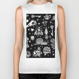Full Of Secrets Witchy Goth Punk Pattern Biker Tank