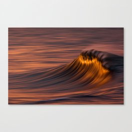 Flaming Wave Canvas Print