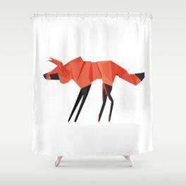 Origami Hyena Shower Curtain