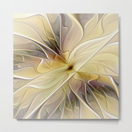 Floral Beauty, Abstract Fractal Art Flower Metal Print