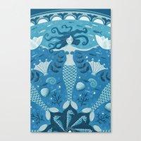 mermaids Canvas Prints featuring Mermaids by Melanie Ritchie