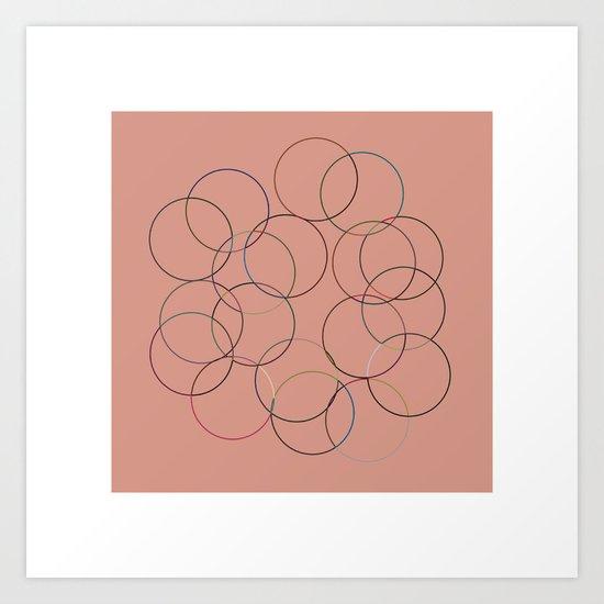 #14 Multi-color-circles Art Print