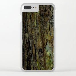 Wood Rot Clear iPhone Case