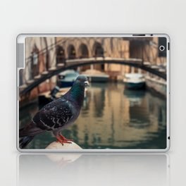 Dove perched on one of the points of the city of Venice Laptop & iPad Skin