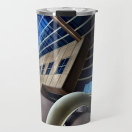 UFO Blue Building  Travel Mug