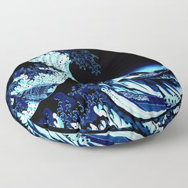 the Great Wave Blue Floor Pillow
