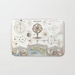 Uranographic and Cosmographic Chart (1852) Bath Mat
