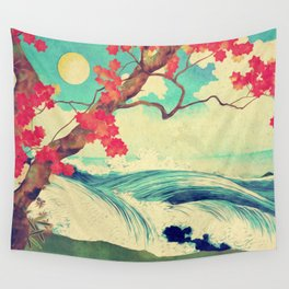 Waking to the Wild and Beautiful Ocean of Dhin Wall Tapestry