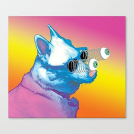 Jeffy the Springy Eyed Husky Canvas Print