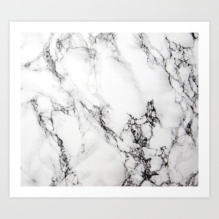 White Faux Marble Texture Kunstdrucke