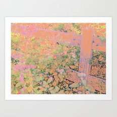 Flower/Fence 2 Art Print