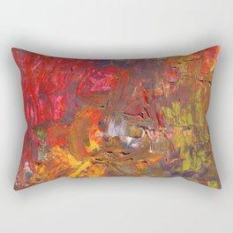 Victory Garden Abstract Painting Rectangular Pillow