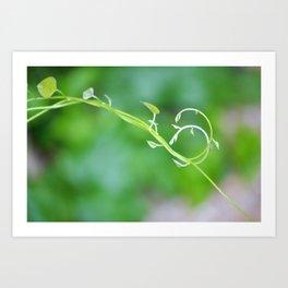 Cute Baby Curlicue Vines Art Print