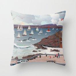 Dolphin's Paradise Throw Pillow