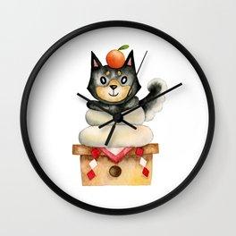 Mochi Shiba Wall Clock