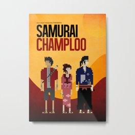Pixel Art - Samurai Champloo Metal Print