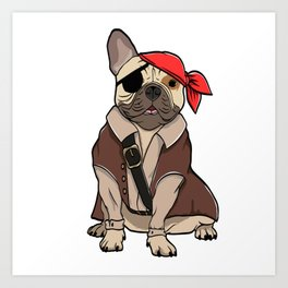 "Certified Dog Lover? Here's a cute t-shirt design with an illustration of ""FRENCH BULLDOG"" T-shirt Art Print"