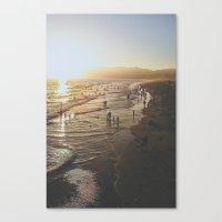 santa monica Canvas Prints featuring Santa Monica by Jake Boeve
