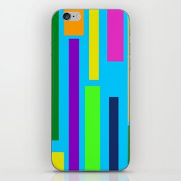 Colored Lines iPhone Skin