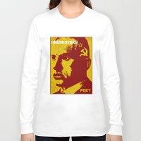 soviet Long Sleeve T-shirts featuring Vladimir Mayakovsky, Soviet Poet by Adam Metzner