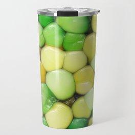 Lemon Lime Abstract Travel Mug