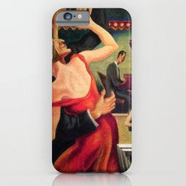 Classical Masterpiece Couple Dancing to Favorite Song by Thomas Hart Benton iPhone Case