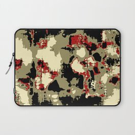 vintage psychedelic geometric painting texture abstract in red brown black Laptop Sleeve