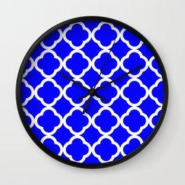Cobalt Quatrefoil Wall Clock