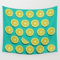 fruit Wall Tapestries featuring fruit  by mark ashkenazi